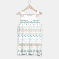 Pastel Tribal Pattern Tank Top, Live Heroes