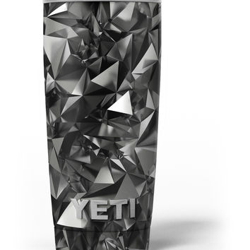 Black 3D Diamond Surface Yeti Rambler Skin Kit