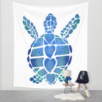 Surf's Up Wall Tapestry by Catherine Holcombe