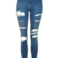 MOTO Super Rip Blue Joni Jeans - Jeans - Clothing