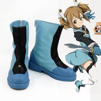 sword art online Yuuki Asuna alo hero cosplay costume lolita unisex punk  party shoes halloween boots