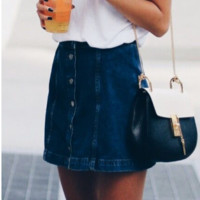 FASHION DENIM CLASSY SKIRT HIGH QUALITY