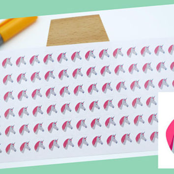 PLANNER STICKER || unicorn || phantasy stickers || small colored icon | for your planner or bullet journal