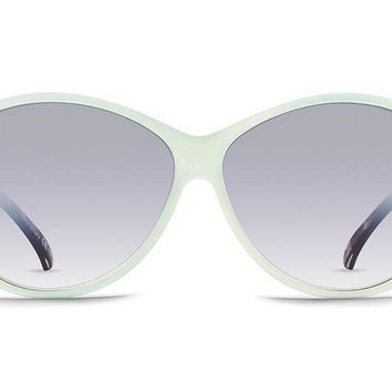 VonZipper - Vacay Mint Crystal Tortoise Sunglasses / Silver Chrome Gradient Lenses