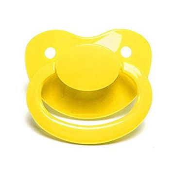 LittleForBig Adult Sized Pacifier Dummy for ADULT BABY ABDL BigShield Yellow