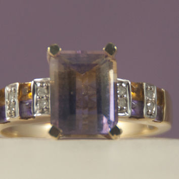 Ametrine 10K Gold Ring : Size 8.75