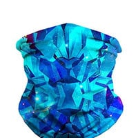 Blue Ice Panther Seamless Face Mask Bandanas for Dust, Music Festivals, Raves, Riding, Outdoors