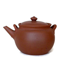 Small Teapot Made With Red Clay, Crude Pottery, Hand Formed Pottery, Succulent Pot, Small Planter, Individual Teapot, Vintage TeaPot