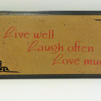 Signs with sayings , Live Laugh Love , Signs with quotes , black , beige , red , home decor , wooden signs with sayings , signs with vinyl