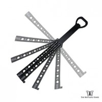 The Original BOTTLEFLY KNIFE Butterfly Knife Bottle Opener (Black)
