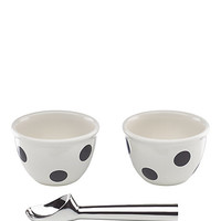Kate Spade 3 Piece Ice Cream Set Black/White ONE