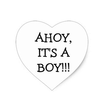 Ahoy, it's a boy black and white stickers