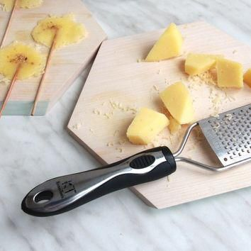 Supreme Zester Grater for Fluffy Cheese Shreds and Perfect Lemon Zest, Fine Handheld G