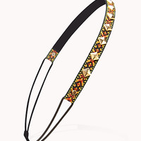 FOREVER 21 Studded Baja Headband Silver/Multi One