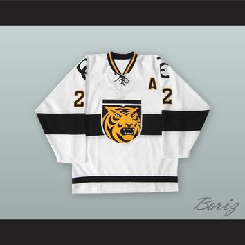 Marty Sertich 22 Colorado College Tigers White Hockey Jersey