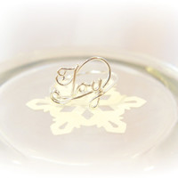JOY Word Ring in 20 Gauge Sterling Silver Wire, Christmas Gift, Gifts under 20, Christian Jewelry, Inspirational, Daughter, Sister