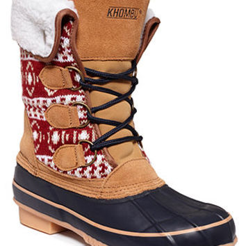 Khombu Maya Cold Weather Faux-Fur Booties