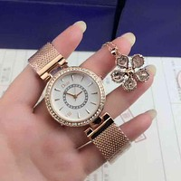 DIOR Women Fashion Quartz Movement Watch Wristwatch Bracelet Set Two-Piece