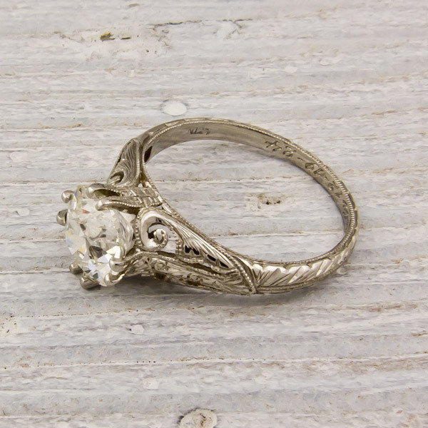 1.59 Old European Cut Diamond Engagement Ring | Shop | Erstwhile Jewelry Co.