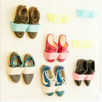 Fashion Creative Candy Color Solid Wall Hanging Paste Type Shoe Rack = 1958046148