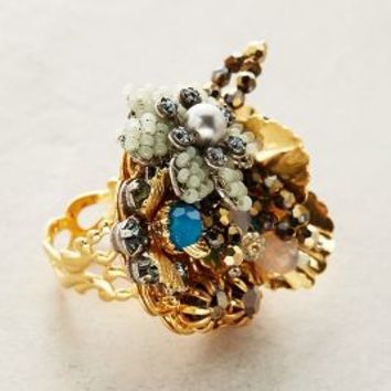 Miriam Haskell Corsage Ring in Turquoise Size: 7 Rings