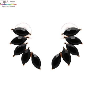 Good quality Hot sale New design jewelry full crystal earrings fashion women statement earring girl party simple stud earrings