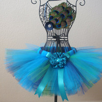 Pretty little peacock girls tutu with by mialovestutusandbows