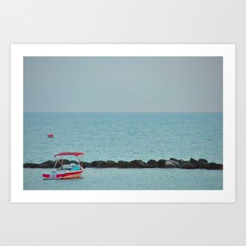 Between Sea and Sky Art Print by Azima