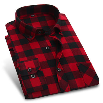 Autumn New British Sanding Long Sleeve Men Flannel shirts