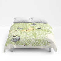 Butterflies in the bee loud glade Comforters by anipani