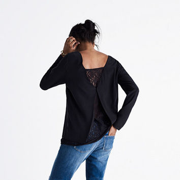 Madewell et Sézane® Lace-Back Top