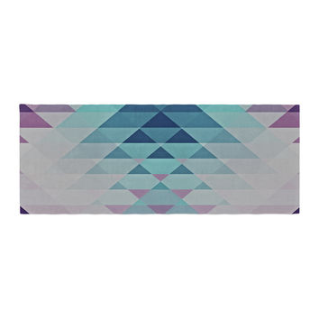 "Nika Martinez ""Hipster Girl"" Blue Lavender Bed Runner"