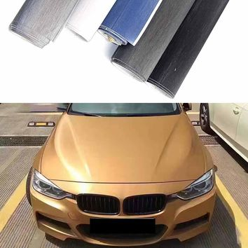 Car Styling Aluminum Brushed Vinyl Film Car Wrap Automobiles Motorcycle Scooter Computer Phone Decals Stickers Film Accessories
