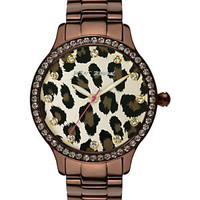 Betsey Iconic Espresso Leopard Dial Watch 					 					 				 			 | Dillard's Mobile