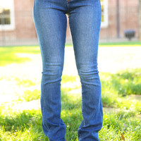 The Leah Mid Rise Skinny Jeans - Dark
