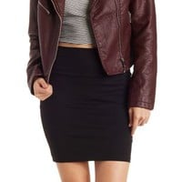 Black Stretch Mini Skirt by Charlotte Russe