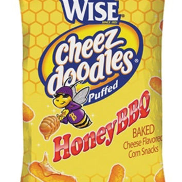 Wise Honey BBQ Cheez Doodles 1 oz Bags - Pack of 36