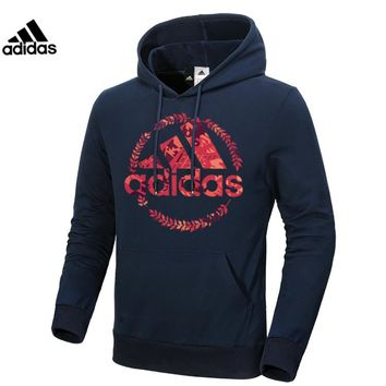 ADIDAS 2018 autumn and winter new men's shirt casual sports pullover Blue