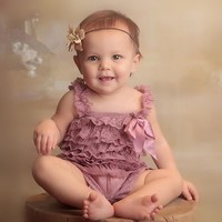 Newborn Baby Girl Clothes Infant Baby Lace Romper Vintage Ruffle Onesuit Jumpsuit Baby Girl Custum Clothing