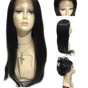 "100% BRAZILIAN HUMAN HAIR - 360 WHOLE FULL LACE WIG- STRAIGHT HAIR 26""- LISA"