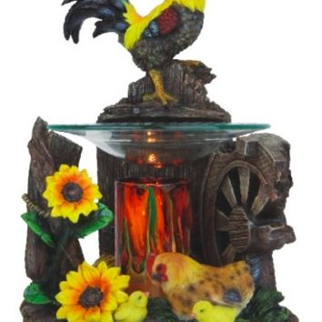 Rooster Chicken Table Fragrance Aroma Lamp Oil Diffuser Wax Tart Candle Warmer Burner Home Decor