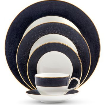 Monique Lhuillier Waterford Stardust Night 5-Piece Bone China Dinnerware Place Setting | Nordstrom