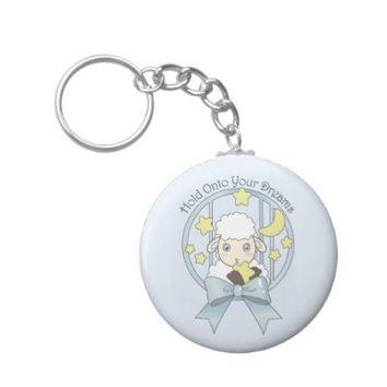 Cute Animal Round Keychains for Girls: Kawaii Lamb, Moon, and Stars: Hold Onto Your Dreams