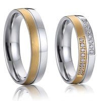 custom western gold plated his and hers promise wedding ring sets anillos de boda