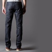 [Dstld Straight] Straight Raw Jeans in Midnight