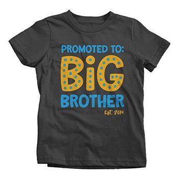 Boy's Promoted to Big Brother EST. 2019 Baby Reveal T-Shirt Cute Shirt