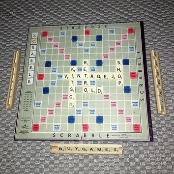 Vintage 1950s Scrabble Board Game / Mid Century Gaming