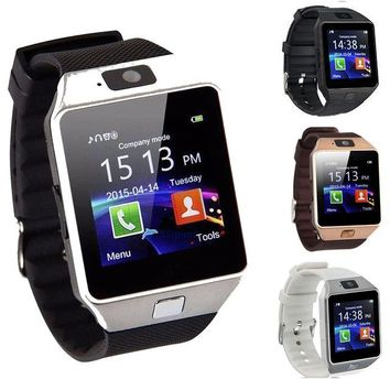 2016 New Arrival DZ09 Smart Watch Clock Sync Notifier Support SIM TF Card Connectivity Apple iphone Android Phone Smartwatch