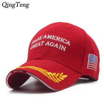 Trendy Winter Jacket Make America Great Again Baseball Cap Swag Donald Trump Speech Hats For Men Casual Snapback Hat Red Caps Presidential Campaign AT_92_12