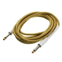 Guitar Cable 3M 10FT Guitar Cable Cord Yellow Wove Guitar Lines Golden Tipped Plugs Connectors For Bass Guitar Parts&Accessories